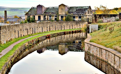 burnley grim scene canal scenery bad derelict building view architecture north northern sunlit itsgrimupnorth wet water waterway lancashire lancs english buy sell sale bought item stock image location ilobsterit instagram place visit warehouse bleak past old landscape photograff photos day today photographer season outside flickr forgotten reflections wetreflection