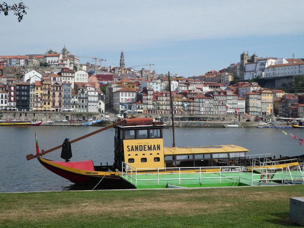 Sandeman port wine Rabelo boat, Porto