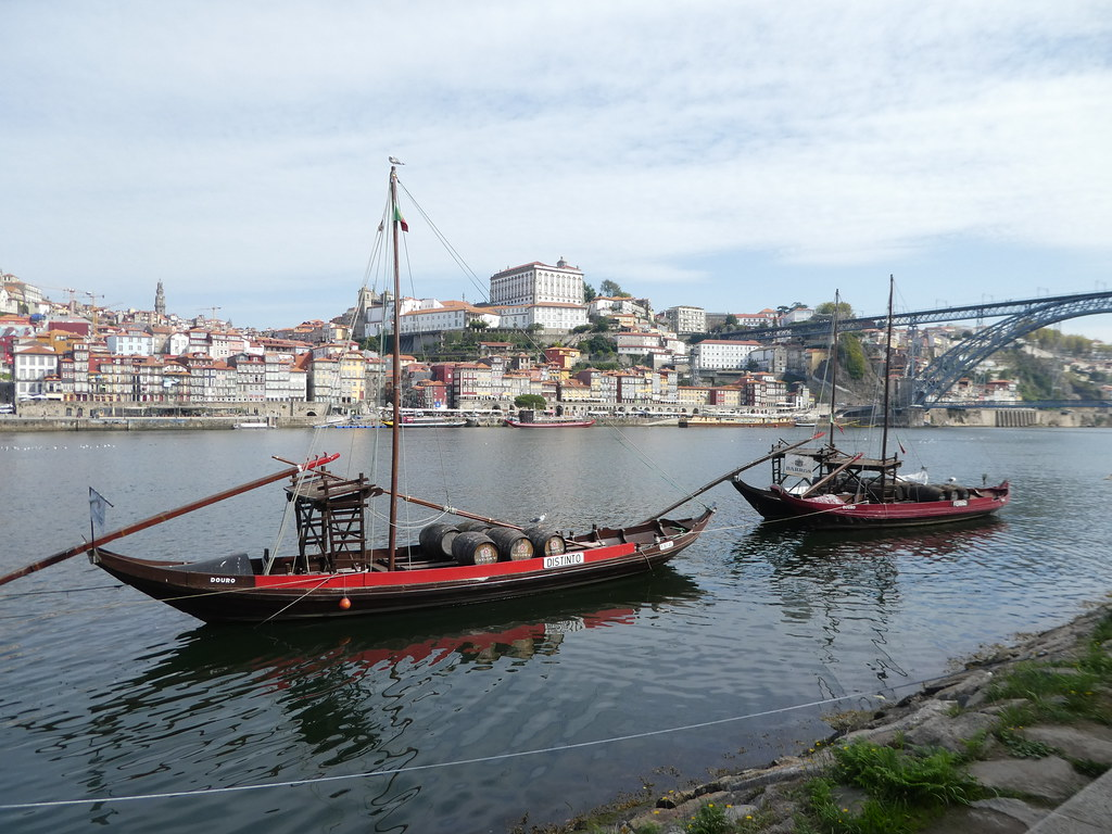 Traditional Rabelo boats in Porto
