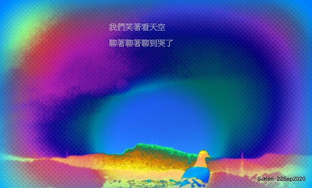 Image retouching artwork, Dove & sky, Taipei, Taiwan, SJKen