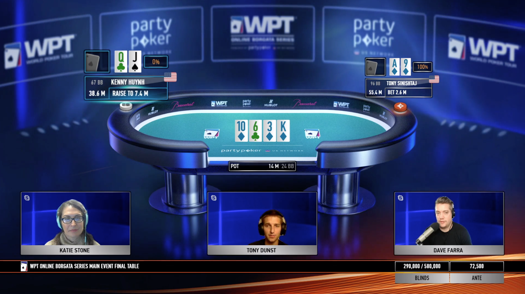 Kenny Huynh Semi-Bluffs Into the Nuts