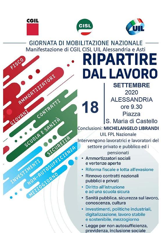 """""""RIPARTIRE DAL LAVORO"""" - 18 settembre 2020"""