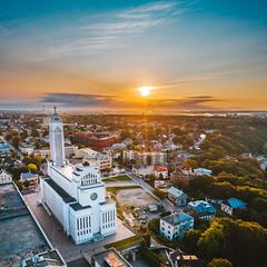 Sunrise | Kaunas aerial