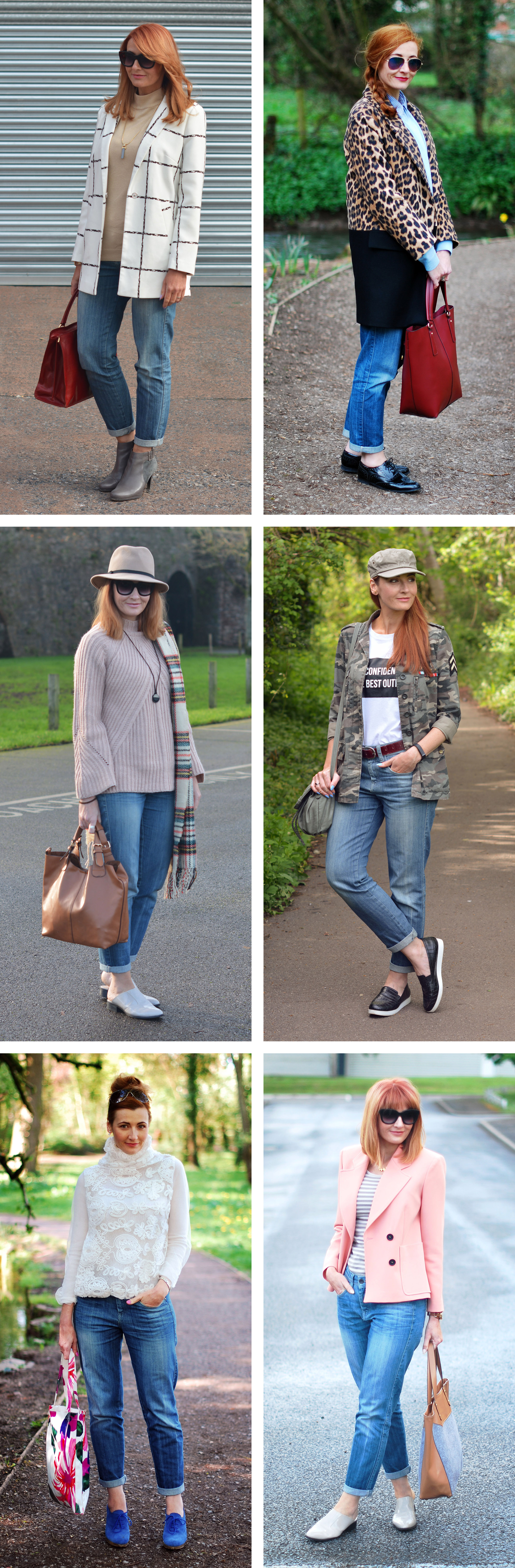 6 Ways to Wear Boyfriend Jeans | Not Dressed As Lamb, over 40 style