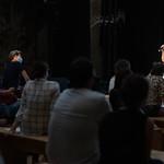 22 septembre 2020 - Avec : Nelly Quemener, sociologue, Naïma Huber Yahi, historienne du fait culturel, Alain Degois dit « Papy », metteur en scène, Carla Bianchi, humoriste. Haroun, humoriste  Photo : Véronique Besnard © Palais de la Porte Dorée, 2020