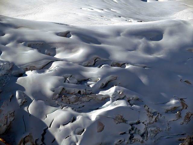 Crevasses on the Franklin Glacier