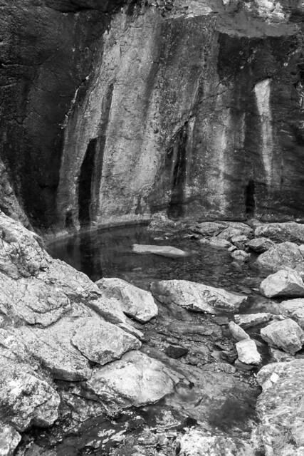 Pothole in a narrow canyon