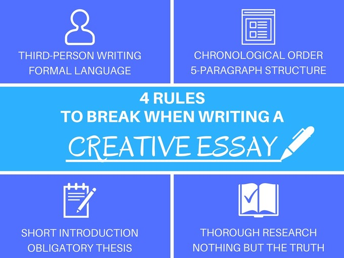 4 rules to break when writing a Creative Essay