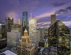Houston Skyline Sunrise - West Side Downtown