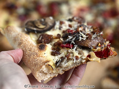 Above Ground - Charred Sweet Pepper & Mushroom Pizza
