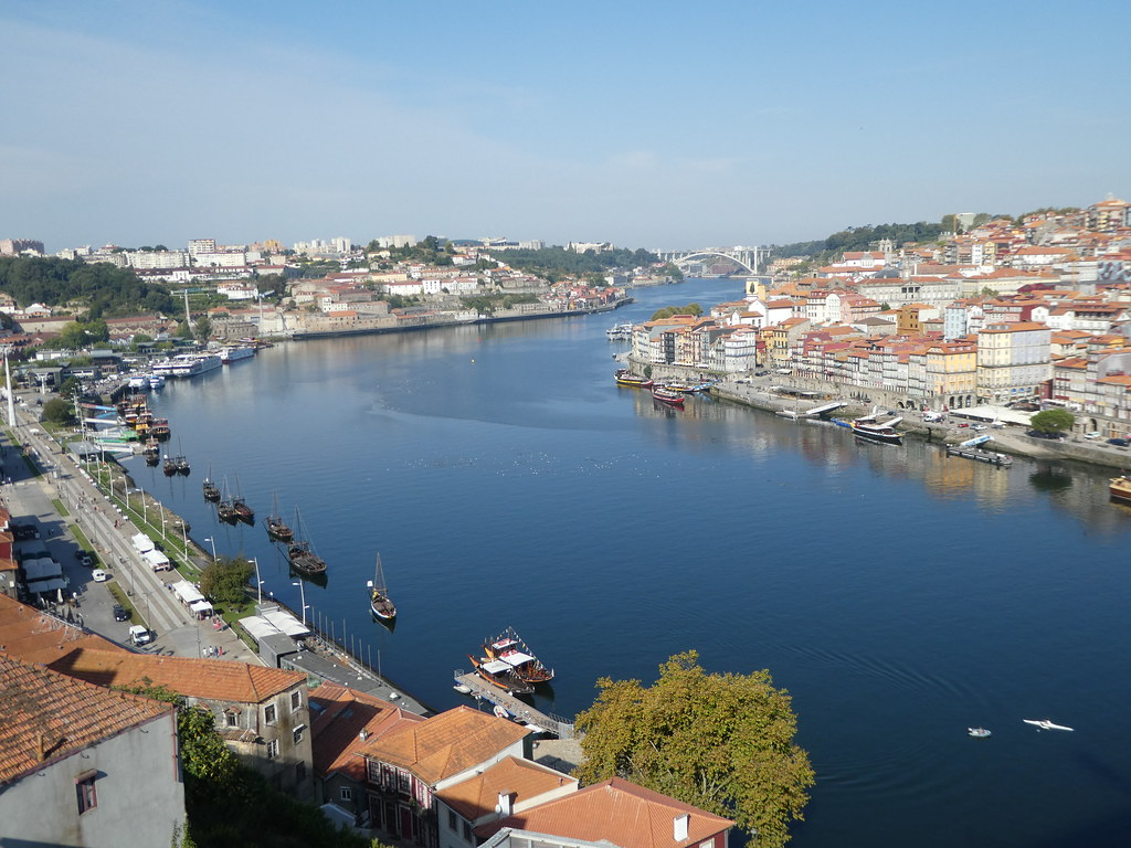 Douro River in Porto from the Luis I bridge