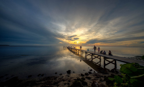 sunset sun landscape water tampabay ruskin florida floridasunset pier ruskinflorida littleharbor harbor