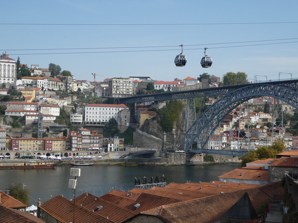 Luis I Bridge and Cable Car, Porto