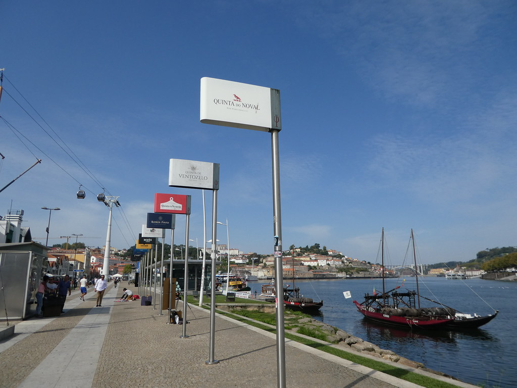 The south bank promenade in Porto