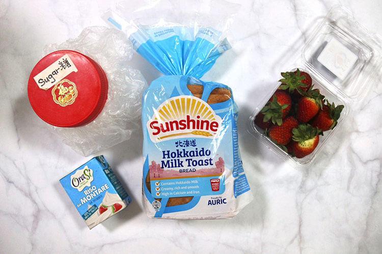 Ingredients for Japanese Fruit Sando Recipe