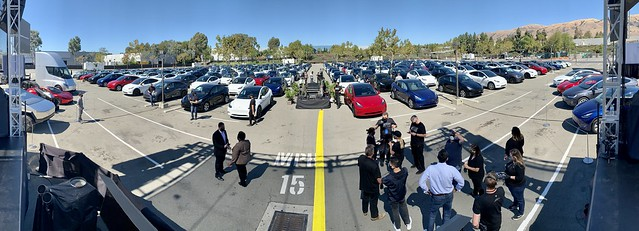 Stage prep for the 2020 Tesla Annual Shareholder Meeting and Battery Day ⚡️