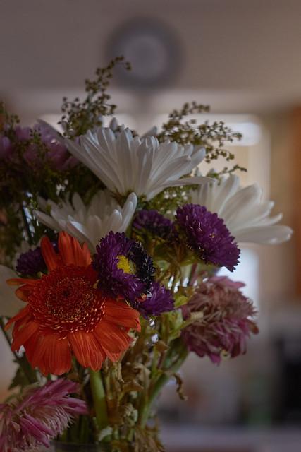 flowers, kitchen