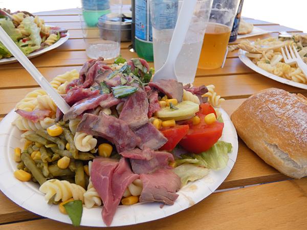 première salade au Philcat