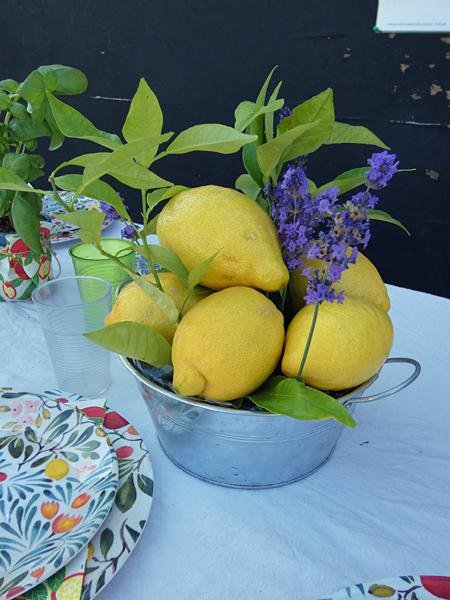 citrons et lavande