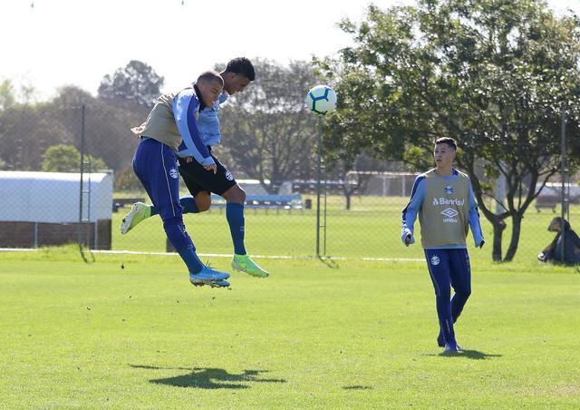 Treino antes da estreia no Brasileiro Sub-20
