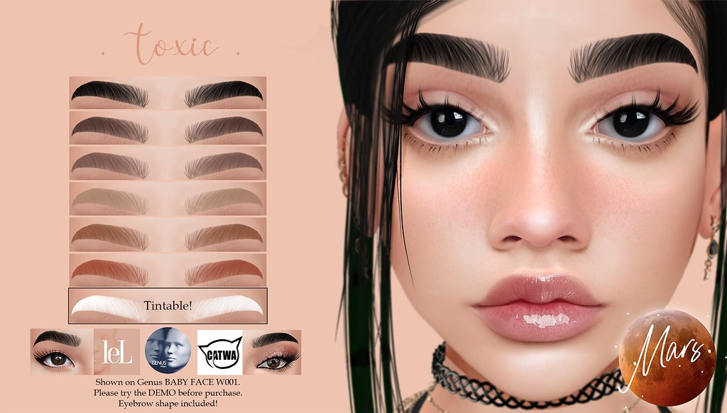 .Mars. – -Toxic Brows BOM for Genus / LeLutka / Catwa