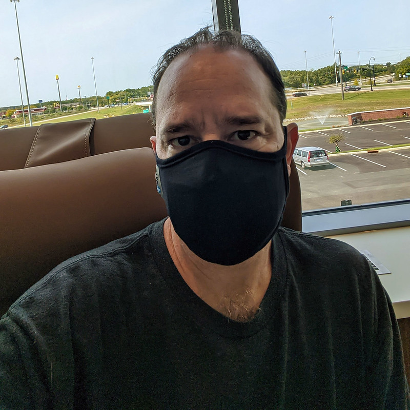 A picture of me, wearing a mask, today.