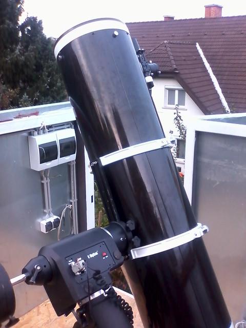 VCSE - 250/1200-as Newton, a távészleléshez és online bemutatóhoz használt műszer