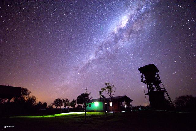 """La """"cabaña de los biólogos"""" en la Estación Kanguery"""