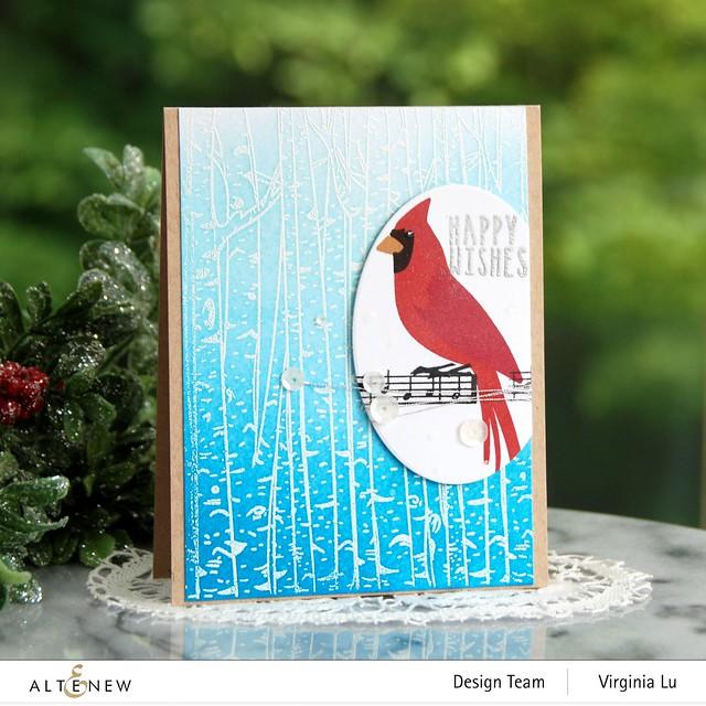 Altenew-Birch Forest Stamp Set-Season's Tweetings-Create-a-Wreath Die Set