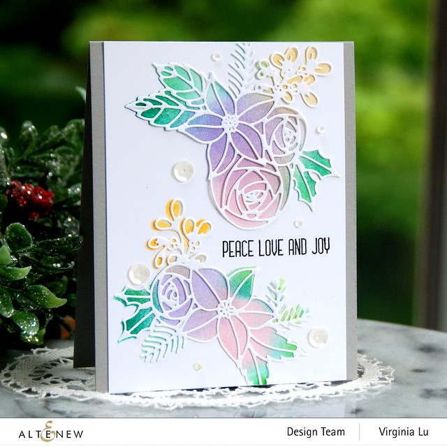 Festive Clusters Die Set-Ink blending Tool (Small)-Pale Gray Card Stock