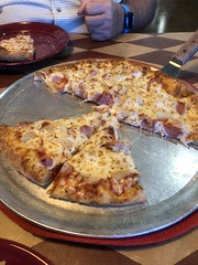 Hawaiian Pizza Pie @ Rising Crust Pizza