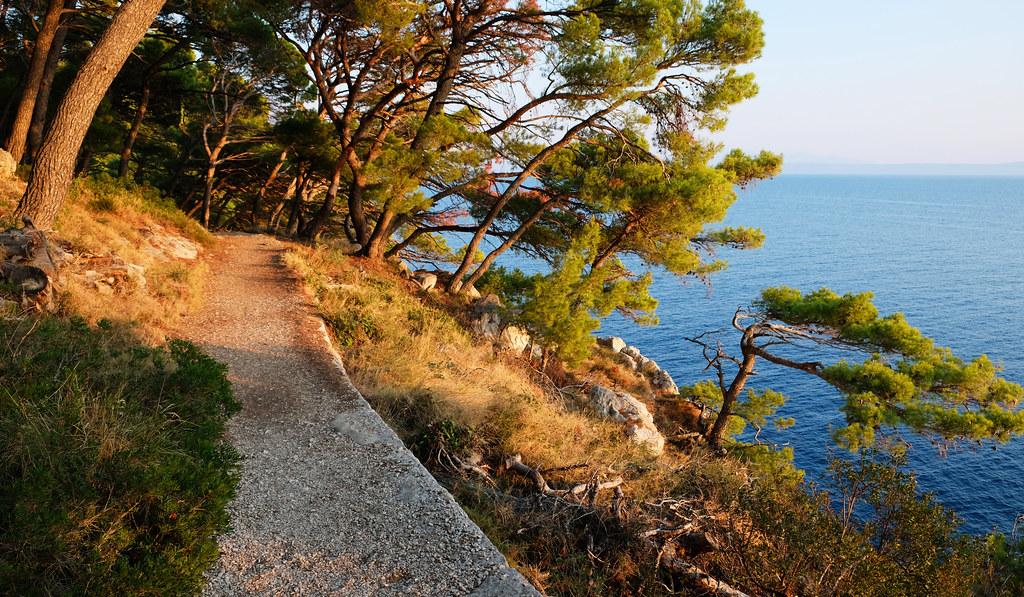 Hiking to Nugal Beach, Makarska, Croatia