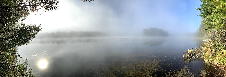 Mew lake morning panorama