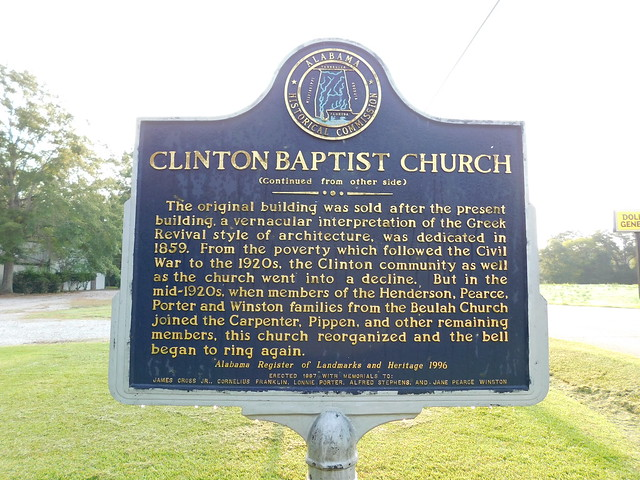 Clinton Baptist Church Historic Marker