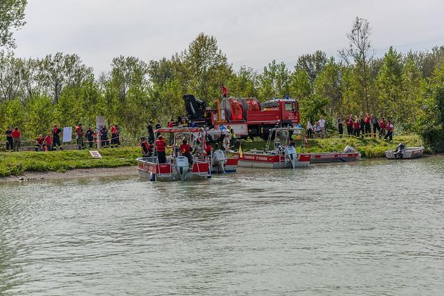 Ölsperrübung auf Donau (19.09.2020)