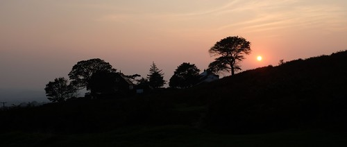 sunset silhouette skyline soft sky fujifilm x100f