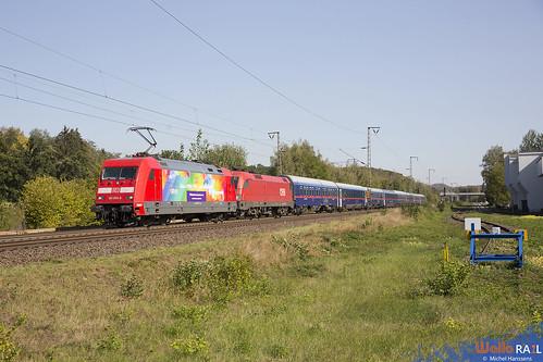 101 066 . DB + 1016 030 . ÖBB . NJ 424 . Stolberg (Rheinland) . 21.09.20.