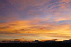Todays sunrise in Quito Hoy el amanecer en Quito