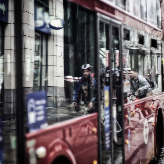 Red bus abstract - London