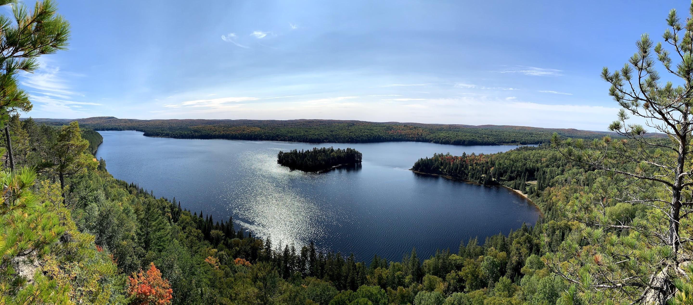 Centennial Ridge lake panorama
