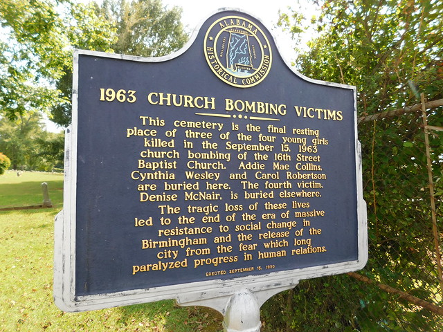 1963 Chruch Bombing Victims Historic Marker