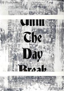 Zavier Ellis 'Until the Day Break I', 2020 Acrylic on digital gloss print 42x29.7cm