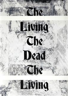 Zavier Ellis 'The Living & The Dead (Repeat) II', 2020 Acrylic on digital gloss print 42x29.7cm
