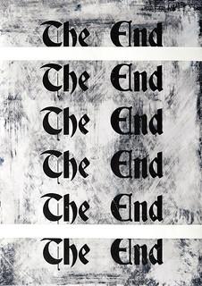 Zavier Ellis 'The End (Repeat) I', 2020 Acrylic on digital gloss print 42x29.7cm