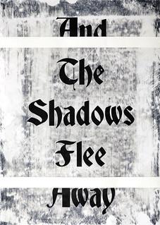 Zavier Ellis 'And the Shadows Flee Away II', 2020 Acrylic on digital gloss print 42x29.7cm