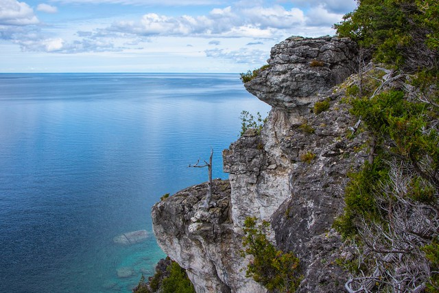 Lionsheads lookout, a trail near Town of Lions Head, Ontario, Canada