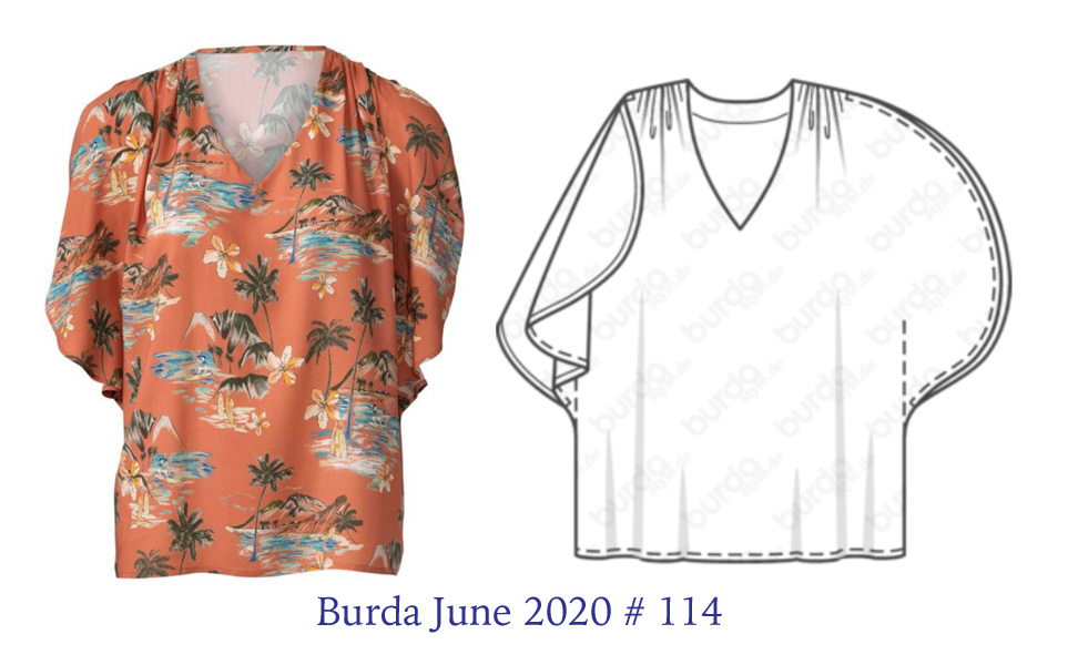 Burda June 2020-114 tech drawing