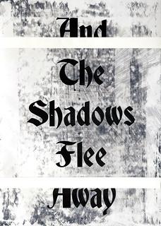 Zavier Ellis 'And the Shadows Flee Away I', 2020 Acrylic on digital gloss print 42x29.7cm