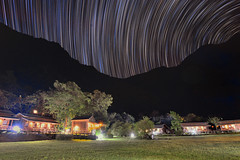 Star trails at Taroko Village Hotel 太魯閣山月村星軌