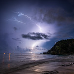 22. September 2020 - 21:20 - Orage du 22 septembre 2020 St-Barthelemy - Shell Beach
